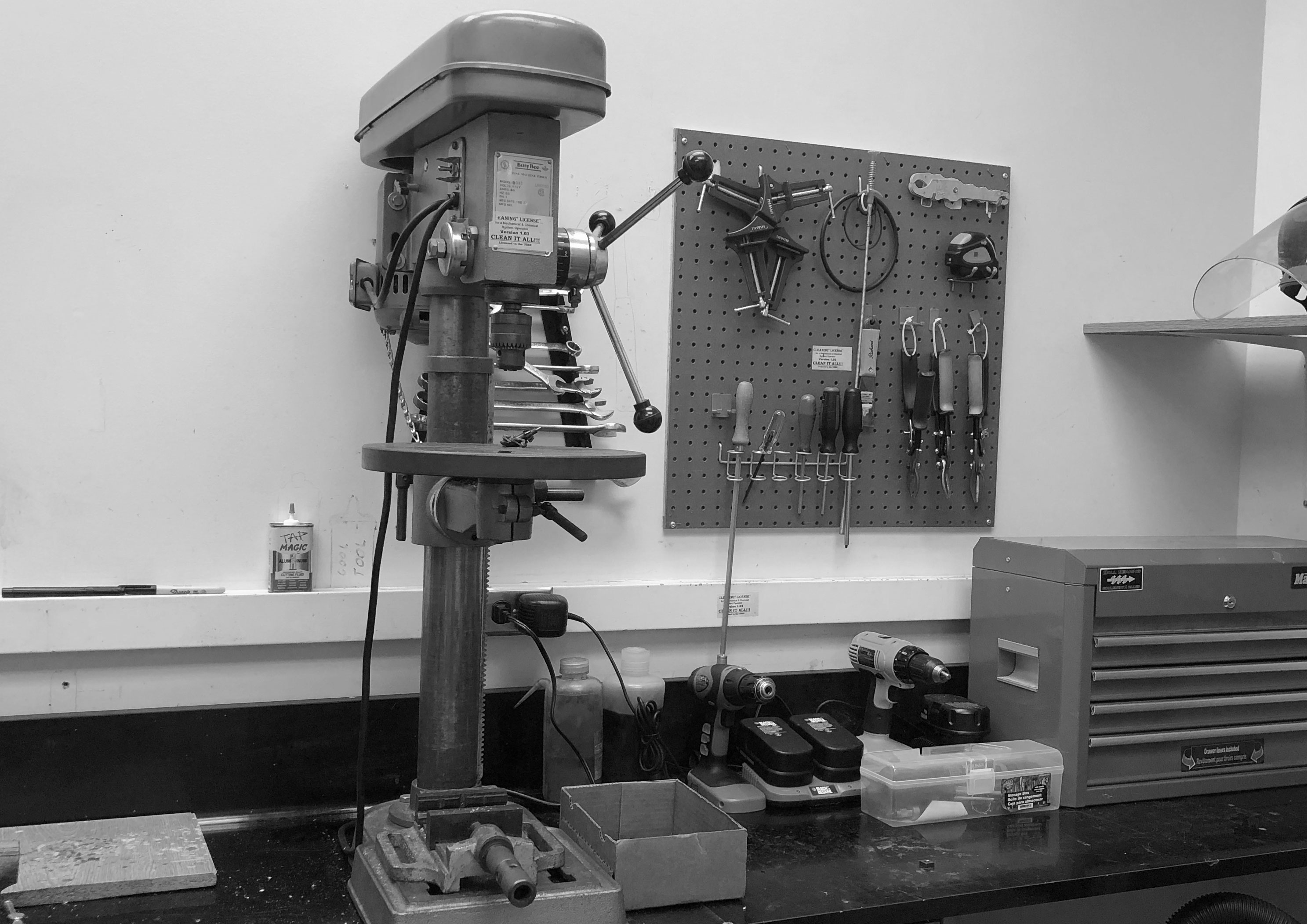 Prototype Table with Drill Press
