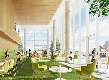 Rendering of Winter Garden at the new SRIC Building